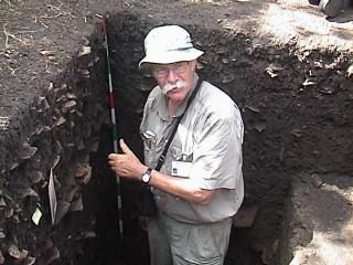"""Founding father"" of Terra Preta Wim Sombroek excavating a TP site (Image courtesy of Cornell University)"