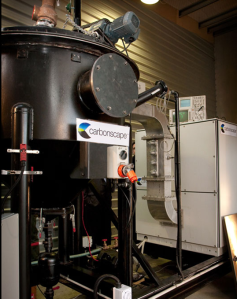 Carbonscape's demonstration microwave pyrolysis unit (Carbonscape)